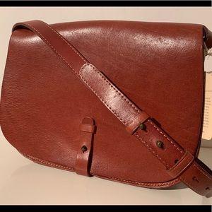 NWT Lucky Brand Leather Saddle Bag